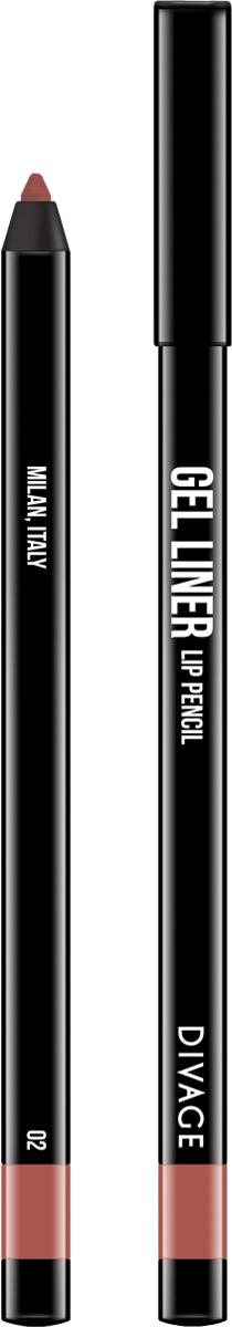 Divage Карандаш для губ гелевый Gel Liner, тон №02, 2 гBriCGLL02Гелевая текстура карандаша не растекается, не скатывается и не смазывается. Мягкая, кремовая формула создает насыщенный, яркий цвет и гарантирует легкое и точное нанесение, сохраняя совершенный вид в течение всего дня. В коллекции самые трендовые оттенки. - 5 модных, универсальных оттенков - в термоусадке.