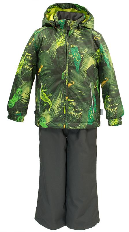 Комплект верхней одежды детский Huppa Yoko 1: куртка, брюки, цвет: лайм. 41190104-82147. Размер 12841190104-82147Комплект верхней одежды детский Huppa Yoko 1 состоит из куртки и брюк. Функциональная куртка изготовлена из износостойкого, дышащего, водо- и ветронепроницаемого материала с водо- и грязеотталкивающей поверхностью. Все швы проклеены, водонепроницаемы. Съемный капюшон защищает от холодного ветра. В брюках имеется ширинка на молнии и регулируемые эластичные подтяжки. Комплект снабжен светоотражателями. В куртке предусмотрены два кармана на молнии.Полная функциональность: от повседневного комфорта до экстремальных условий.