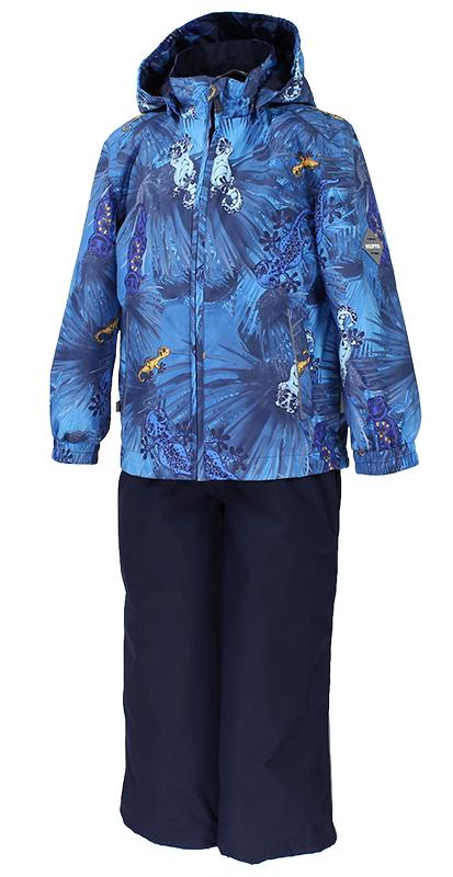 Комплект верхней одежды детский Huppa Yoko 1: куртка, брюки, цвет: темно-синий. 41190104-82386. Размер 152 куртка детская huppa jody цвет темно синий 17000004 82386 размер 152