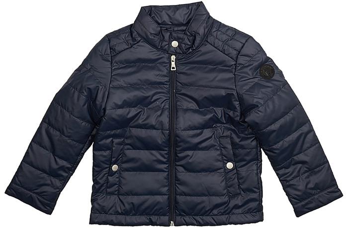Куртка для мальчика Baon, цвет: темно-синий. BK538002_Deep Navy. Размер 98/104BK538002_Deep NavyКуртка для мальчика Baon выполнена из полиэстера. Модель с воротником стойкой и длинными рукавами застегивается на застежку-молнию и кнопку. Спереди изделие дополнено двумя карманами на кнопках.