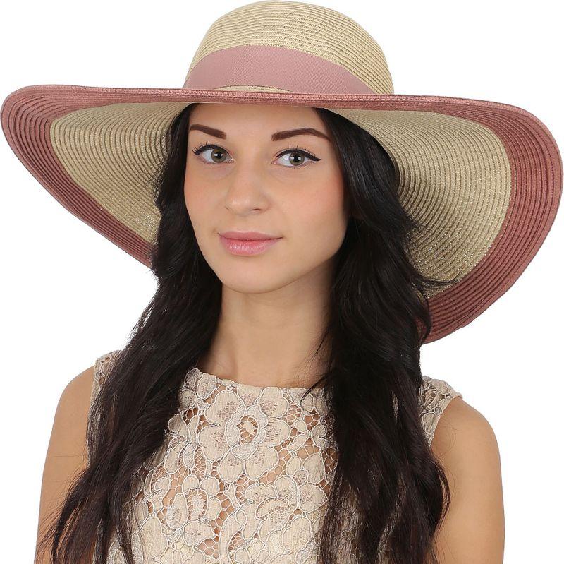 Соломенная шляпа женская Fabretti, цвет: бежевый. G39. Размер 56/59