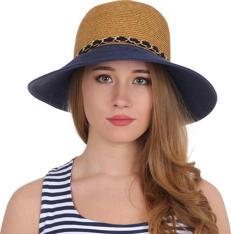 Соломенная шляпа женская Fabretti, цвет: бежевый. G40. Размер 56/59