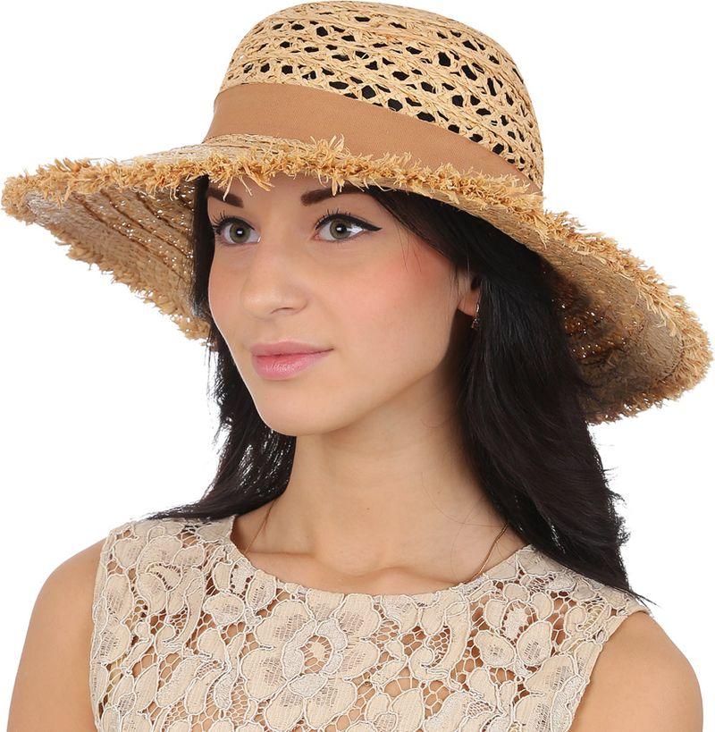 Купить Соломенная шляпа женская Fabretti, цвет: бежевый. G42. Размер 56/59