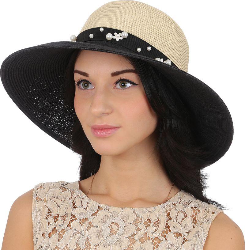 Купить Соломенная шляпа женская Fabretti, цвет: бежевый. G44. Размер 56/59