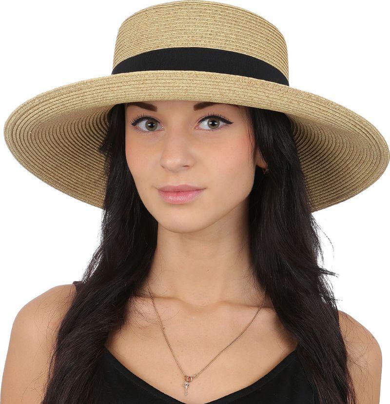 Купить Соломенная шляпа женская Fabretti, цвет: бежевый. G48. Размер 56/59