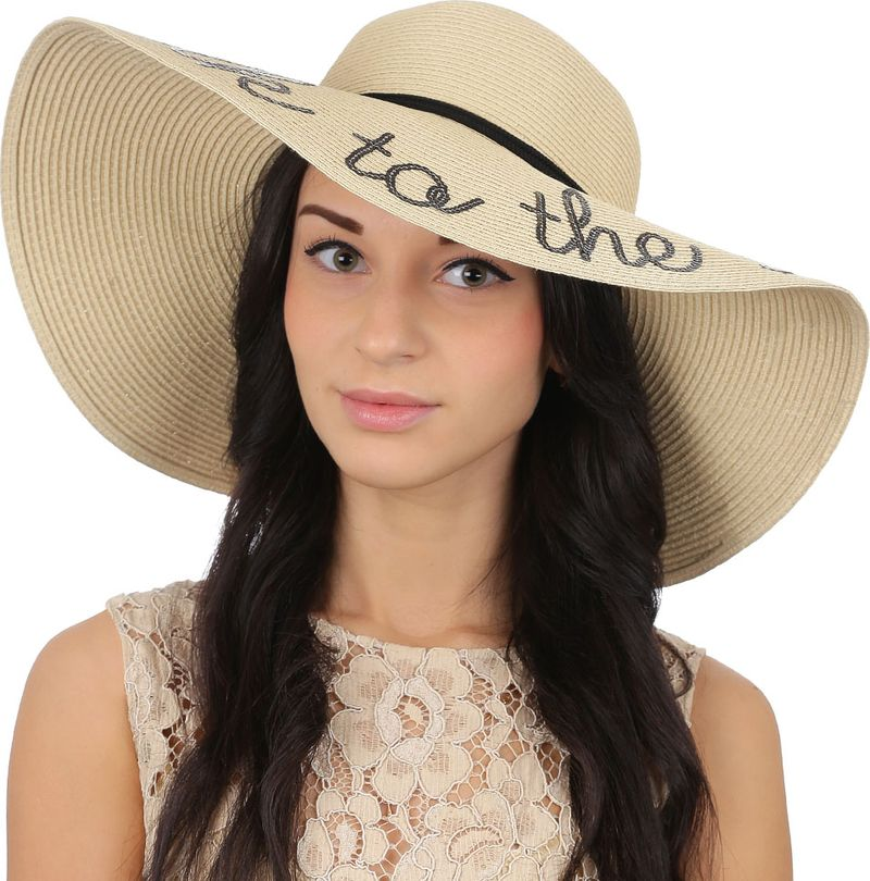 Соломенная шляпа женская Fabretti, цвет: бежевый. GL47. Размер 56/59