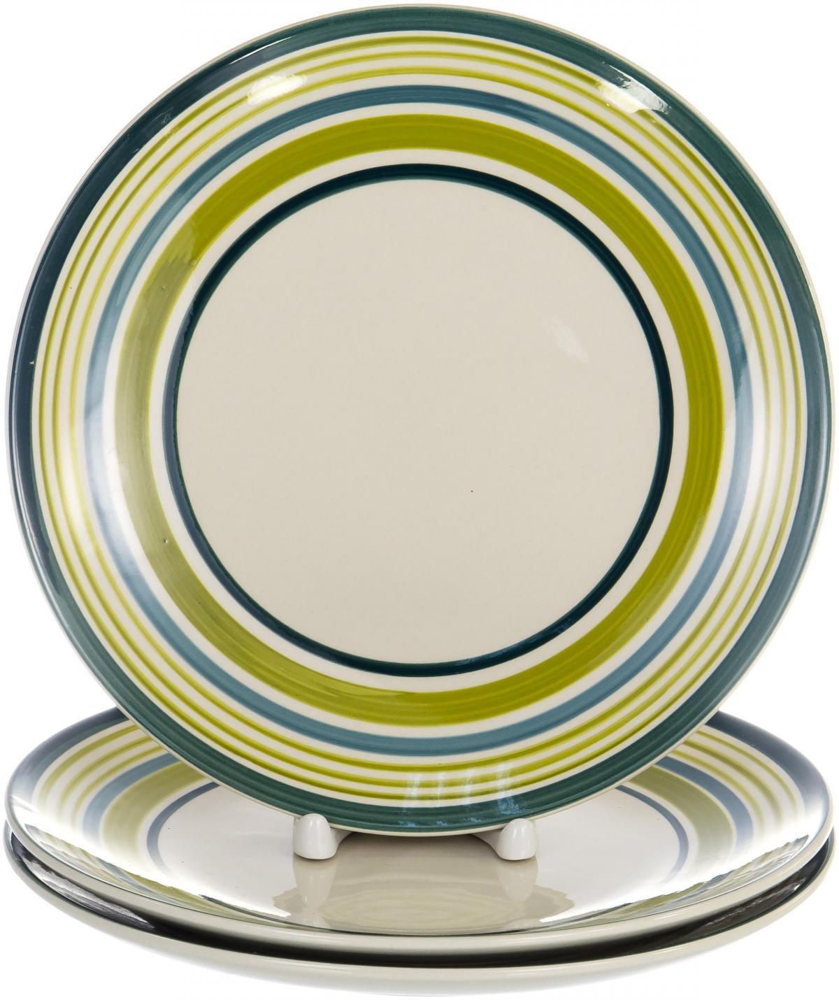"""Набор Elrington """"Меридианы"""" выполнен из фарфора. Включает в себя три тарелки диаметром 220 мм.  Тарелки с оригинальным дизайном обязательно понравятся вам и вашим гостям."""