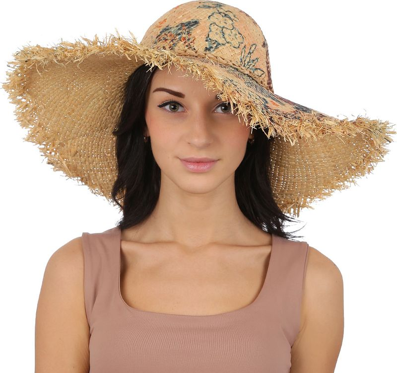 Соломенная шляпа женская Fabretti, цвет: бежевый. GL57. Размер 56/59