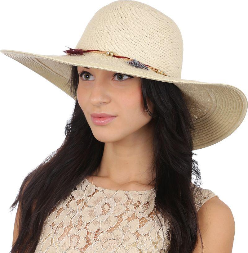 Соломенная шляпа женская Fabretti, цвет: бежевый. GL58. Размер 56/59