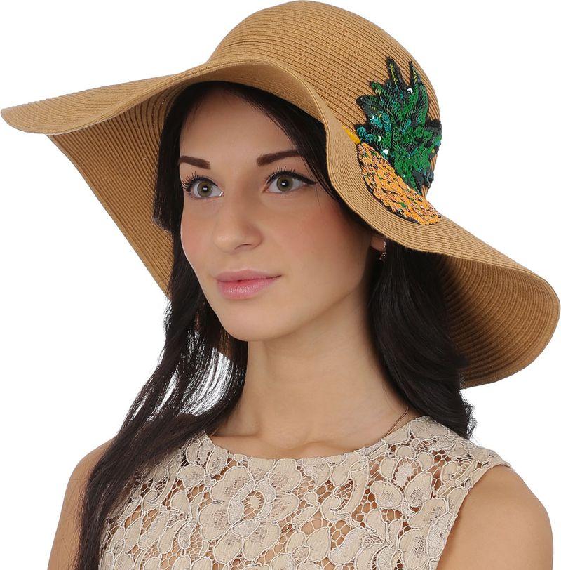 Соломенная шляпа женская Fabretti, цвет: бежевый. GL60. Размер 56/59 цены онлайн