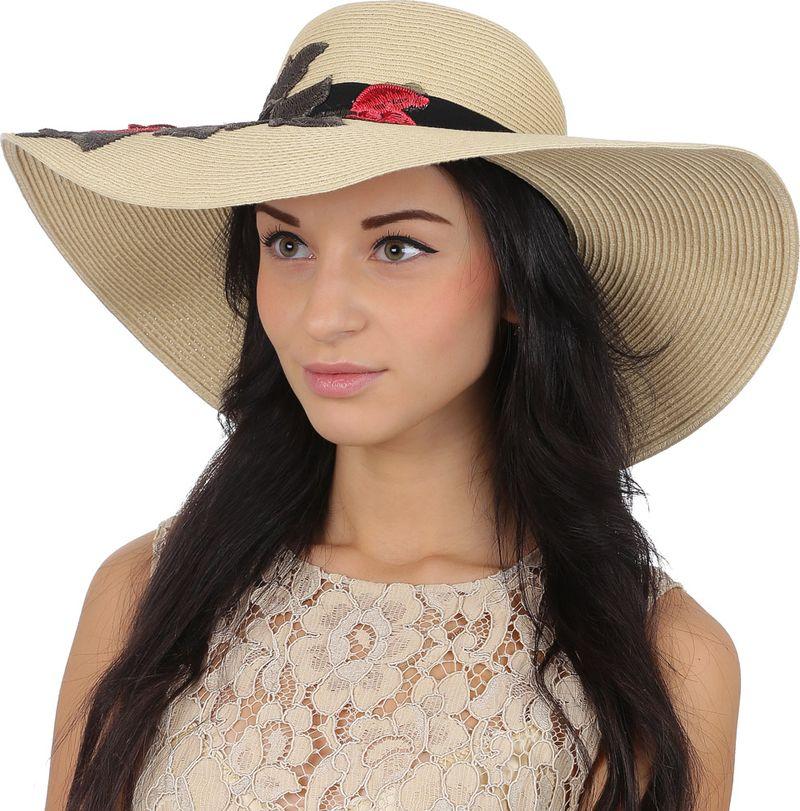 Соломенная шляпа женская Fabretti, цвет: бежевый. GL62. Размер 56/59