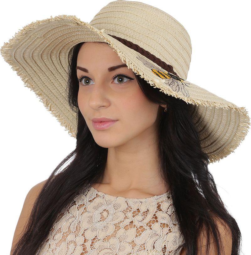 Соломенная шляпа женская Fabretti, цвет: бежевый. GL65. Размер 56/59