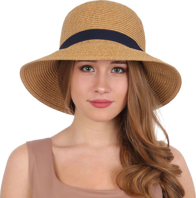 Соломенная шляпа женская Fabretti, цвет: бежевый. GL66. Размер 56/59