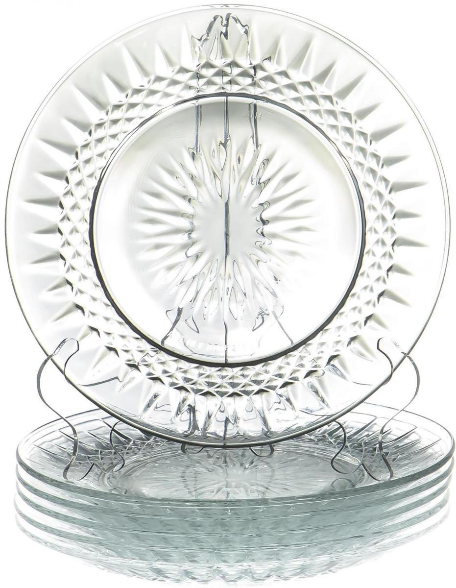 Набор тарелок Olaff Классик, 7 штTR-PS1091/7-2GB1Набор тарелок Olaff Классик выполнен из высококачественного стекла. В набор входят: 1 мелкая тарелка (диаметр - 240 мм) и 6 мелких тарелок (диаметр - 180 мм).Набор упакован в красочную, подарочную упаковку.