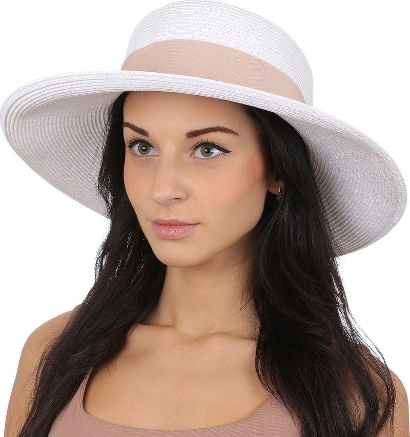 Купить Соломенная шляпа женская Fabretti, цвет: белый. G48. Размер 56/59
