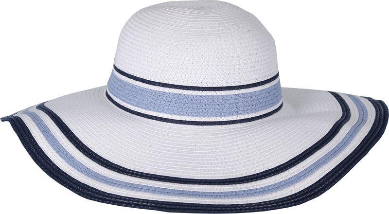 Соломенная шляпа женская Fabretti, цвет: белый. GL31. Размер 56/59
