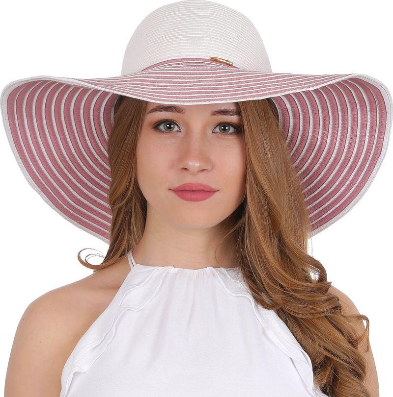 Соломенная шляпа женская Fabretti, цвет: белый. GL53. Размер 56/59
