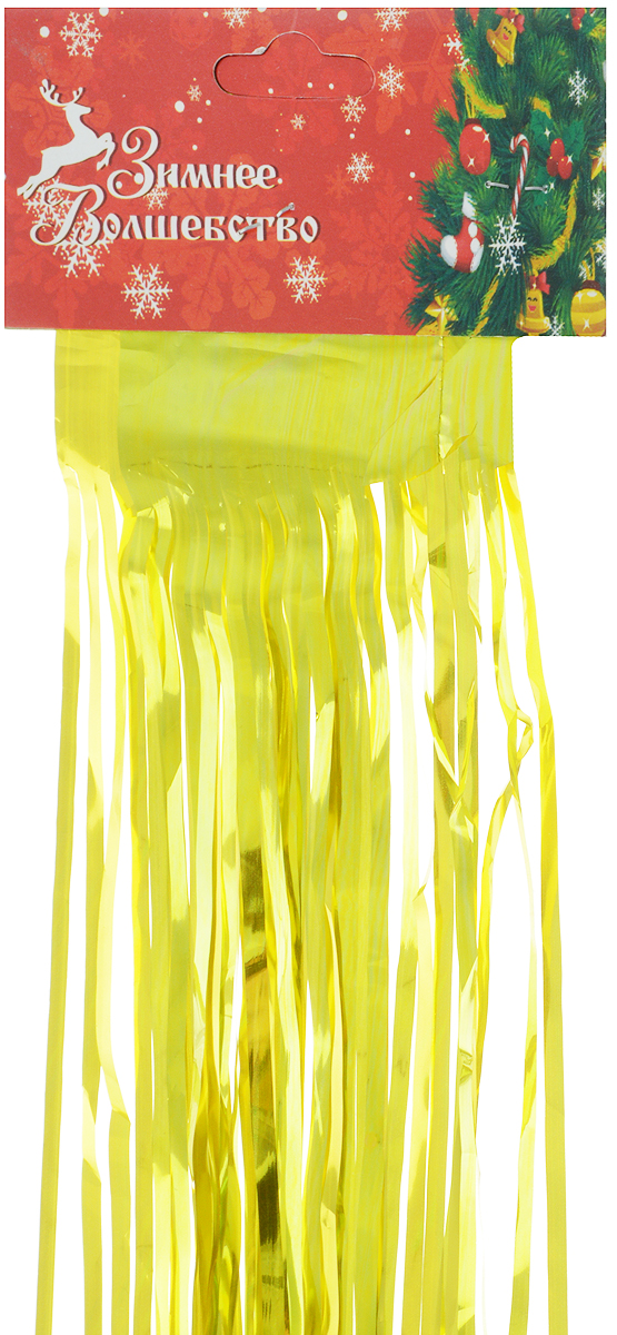 Дождик новогодний Sima-land, цвет: желтый, 13 х 100 см. 701536