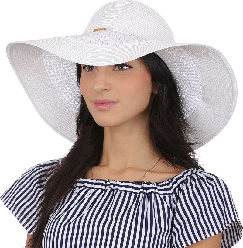 Соломенная шляпа женская Fabretti, цвет: белый. GL54. Размер 56/59
