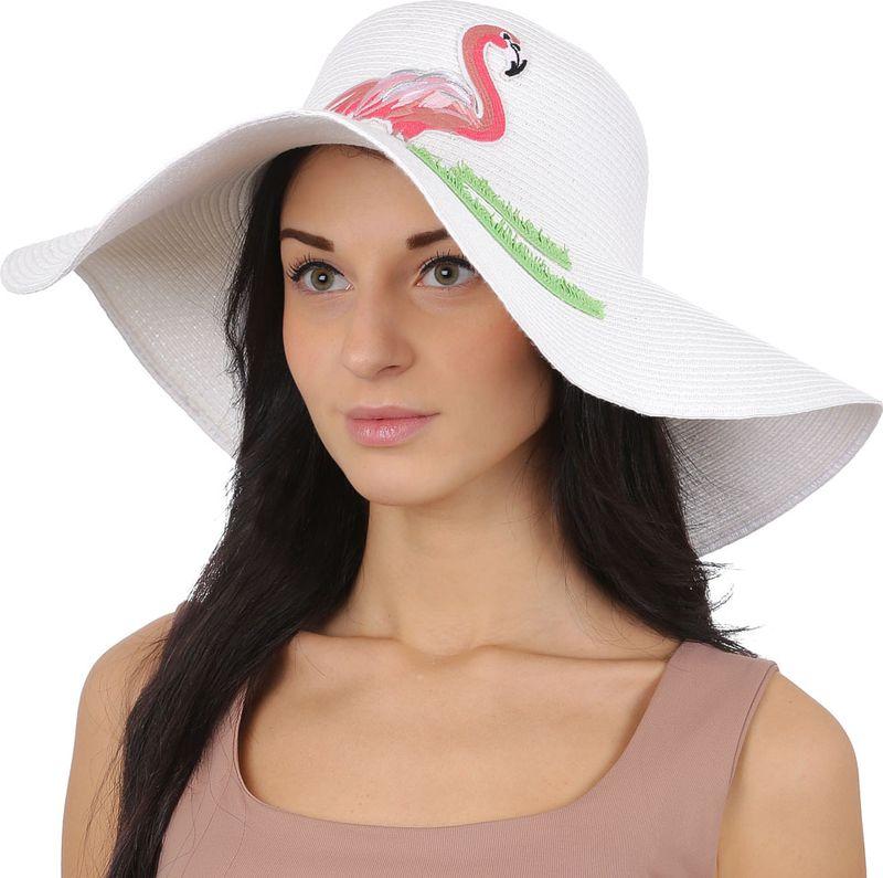 Соломенная шляпа женская Fabretti, цвет: белый. GL63. Размер 56/59