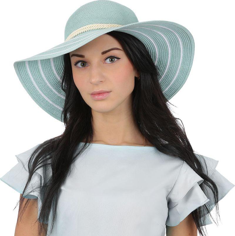 Купить Соломенная шляпа женская Fabretti, цвет: зеленый. G28. Размер 56/59