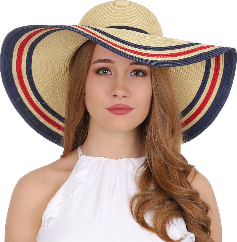 Соломенная шляпа женская Fabretti, цвет: мультиколор. GL33. Размер 56/59  - купить со скидкой