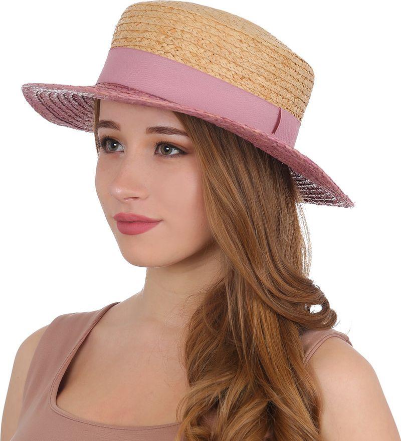 Купить Соломенная шляпа женская Fabretti, цвет: розовый. G52. Размер 56/59