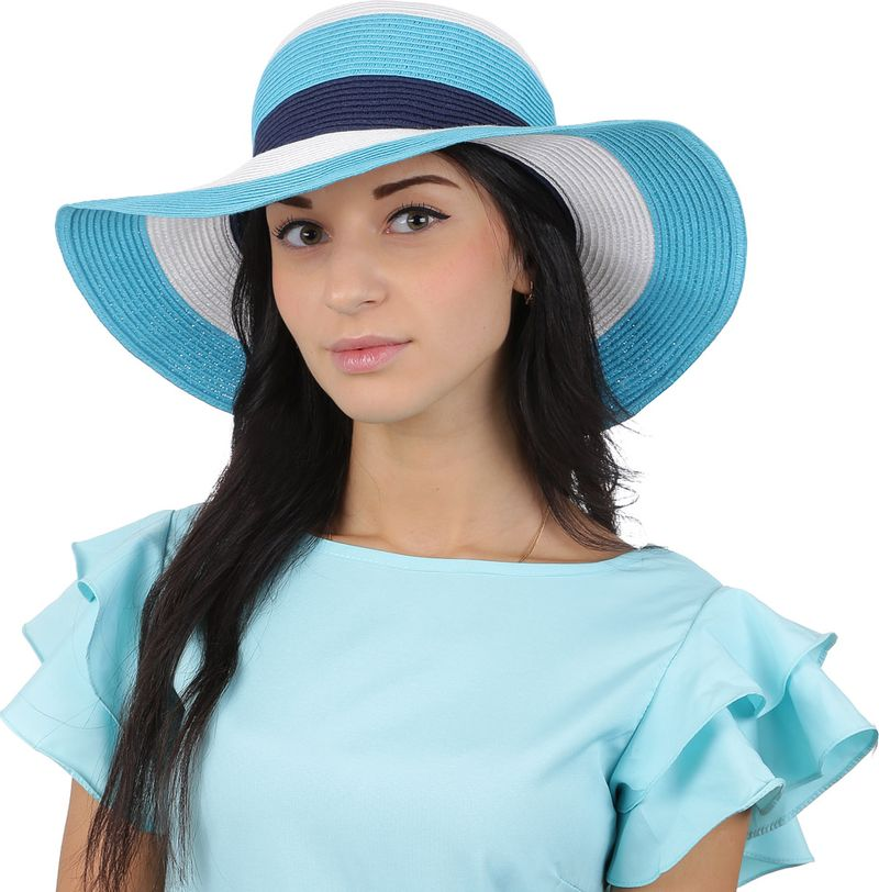 Соломенная шляпа женская Fabretti, цвет: синий. G55. Размер 56/59 цены онлайн