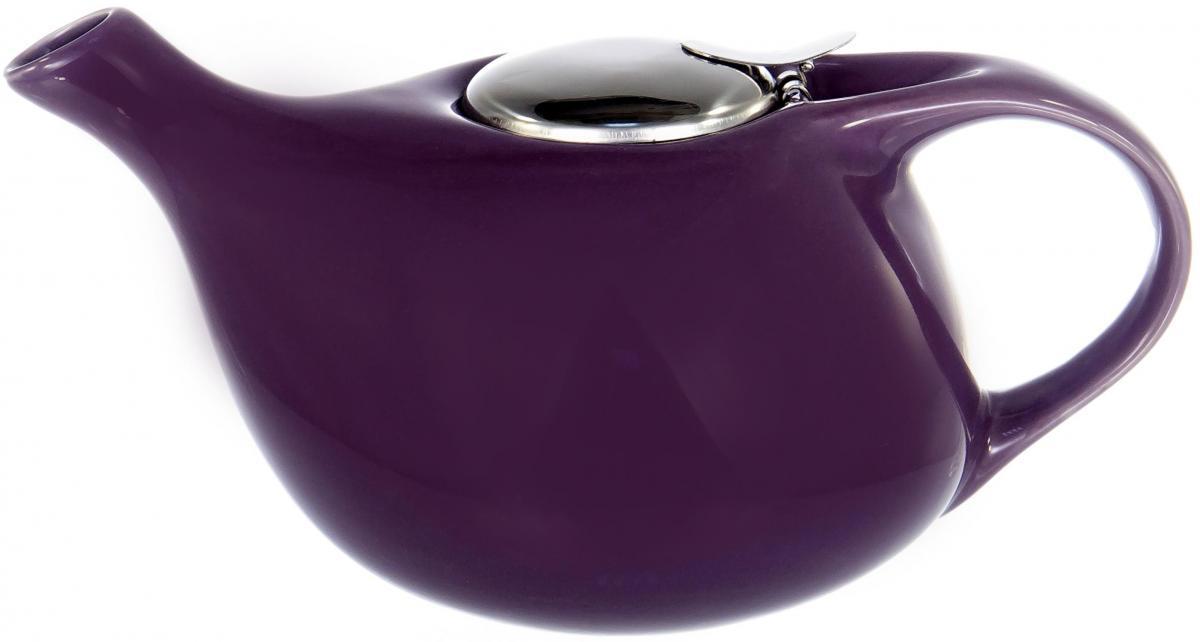 """Заварочный чайник Elrington """"Глазурь"""" выполнен из высококачественной цветной керамики. Фильтр из нержавеющей стали для заваривания раскроет букет чая и не позволит чаинкам попасть в чашку. Удобная металлическая крышка поддержит нужную температуру для заваривания чая. Керамический чайник прост и удобен в применении, чайник легко мыть. Не ставьте чайник на открытый огонь и нагревающиеся поверхности. Подходит для мытья в посудомоечной машине."""