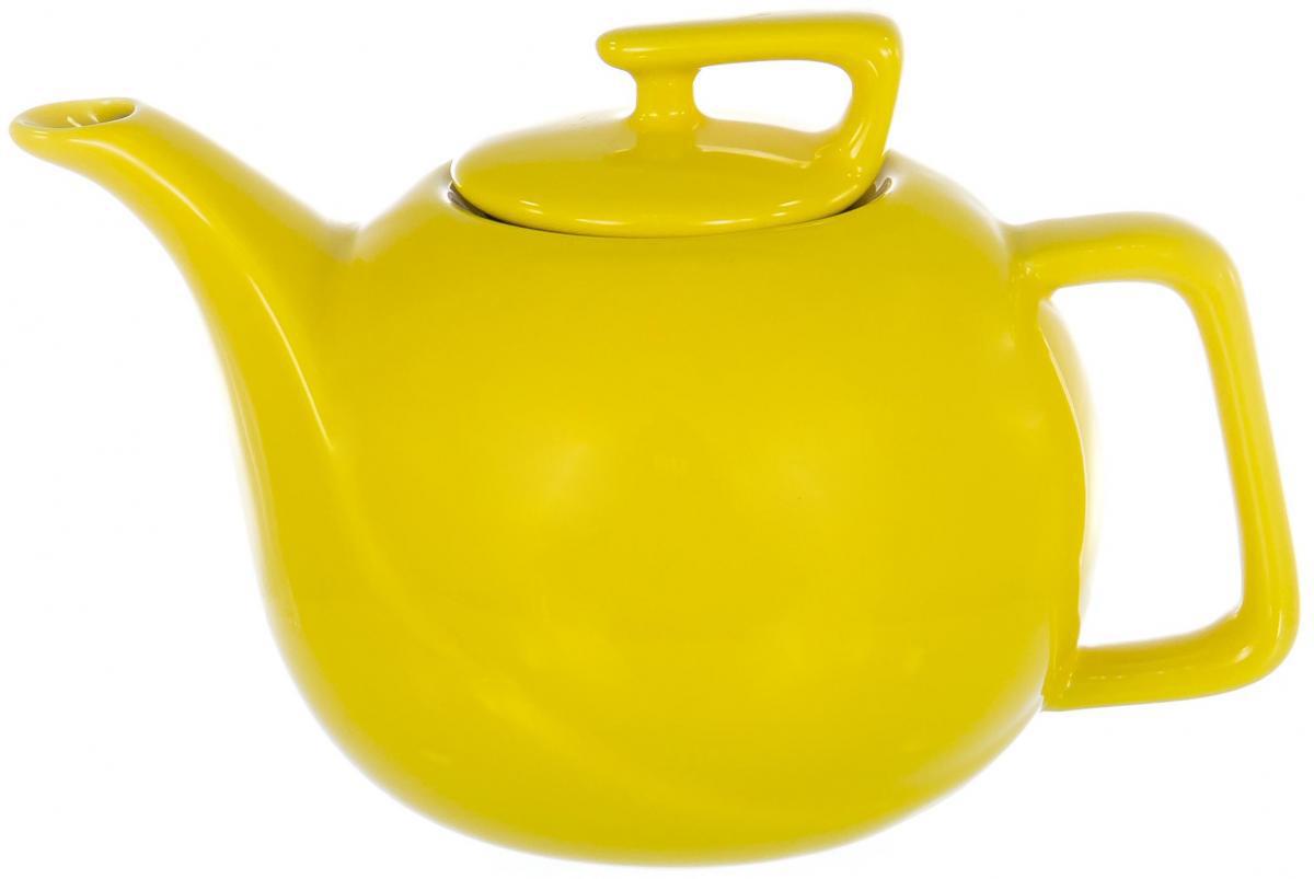 Чайник заварочный Elrington Глазурь, цвет: желтый, 900 млFJH-10100-A125Заварочный чайник Elrington Глазурь выполнен из высококачественной цветной керамики. Фильтр из нержавеющей стали для заваривания раскроет букет чая и не позволит чаинкам попасть в чашку. Керамический чайник прост и удобен в применении, чайник легко мыть. Не ставьте чайник на открытый огонь и нагревающиеся поверхности. Подходит для мытья в посудомоечной машине.