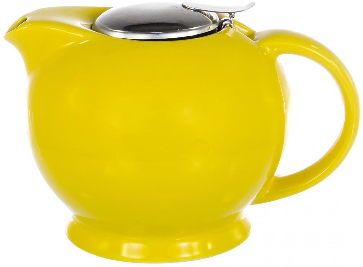 Чайник заварочный Elrington Глазурь, с фильтром, цвет: желтый, 1,25 лFJH-10163-A125Заварочный чайник Elrington Глазурь выполнен из высококачественной цветной керамики. Фильтр из нержавеющей стали для заваривания раскроет букет чая и не позволит чаинкам попасть в чашку. Удобная металлическая крышка поддержит нужную температуру для заваривания чая. Керамический чайник прост и удобен в применении, чайник легко мыть. Не ставьте чайник на открытый огонь и нагревающиеся поверхности. Подходит для мытья в посудомоечной машине.