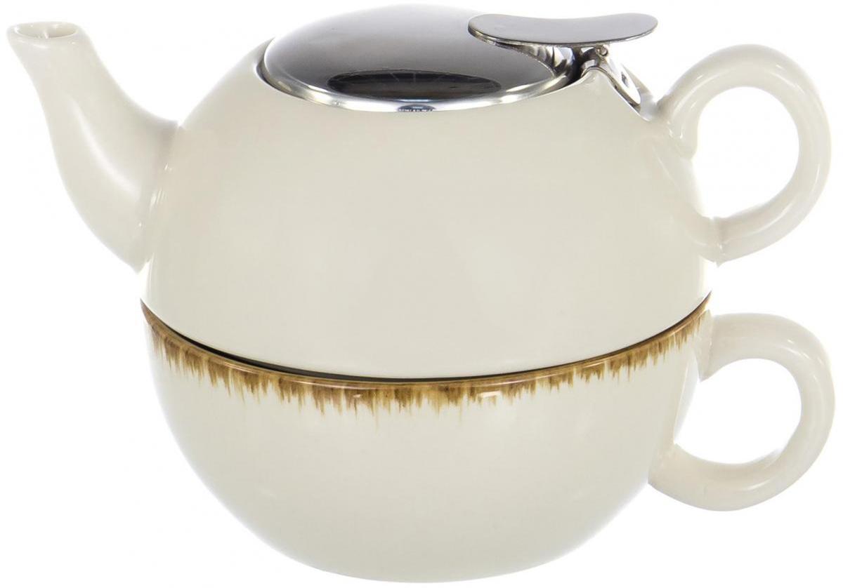 Чайник заварочный Elrington Сок. Березовый, 380 млHJC-1203-TСОК. Березовый, набор (2) чашка + чайник 380мл ЭГОИСТ, упаковка - цвет.бокс