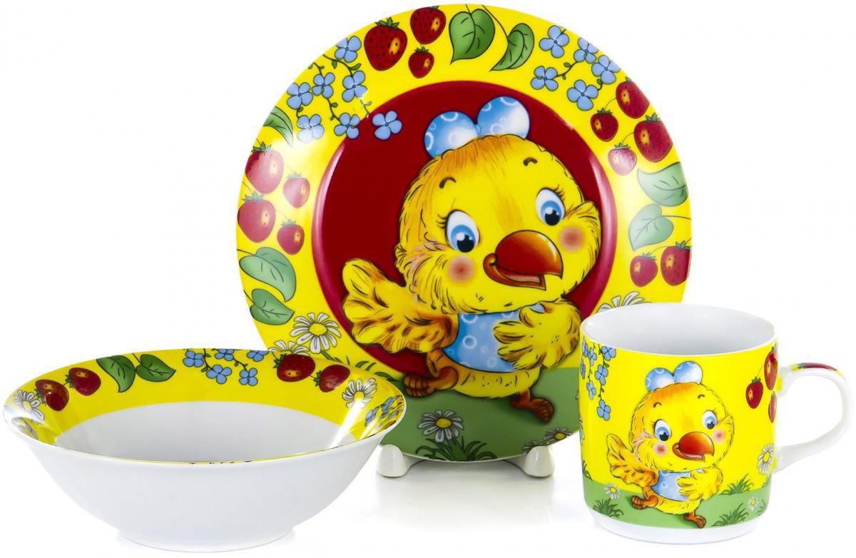 Набор для завтрака Olaff Children, 3 предмета. LX-3PCS-C112LX-3PCS-C112CHILDREN, набор посуды (3) тарелка мелк.190мм + салатник 500мл + кружка 230мл, упаковка - цвет.бокс