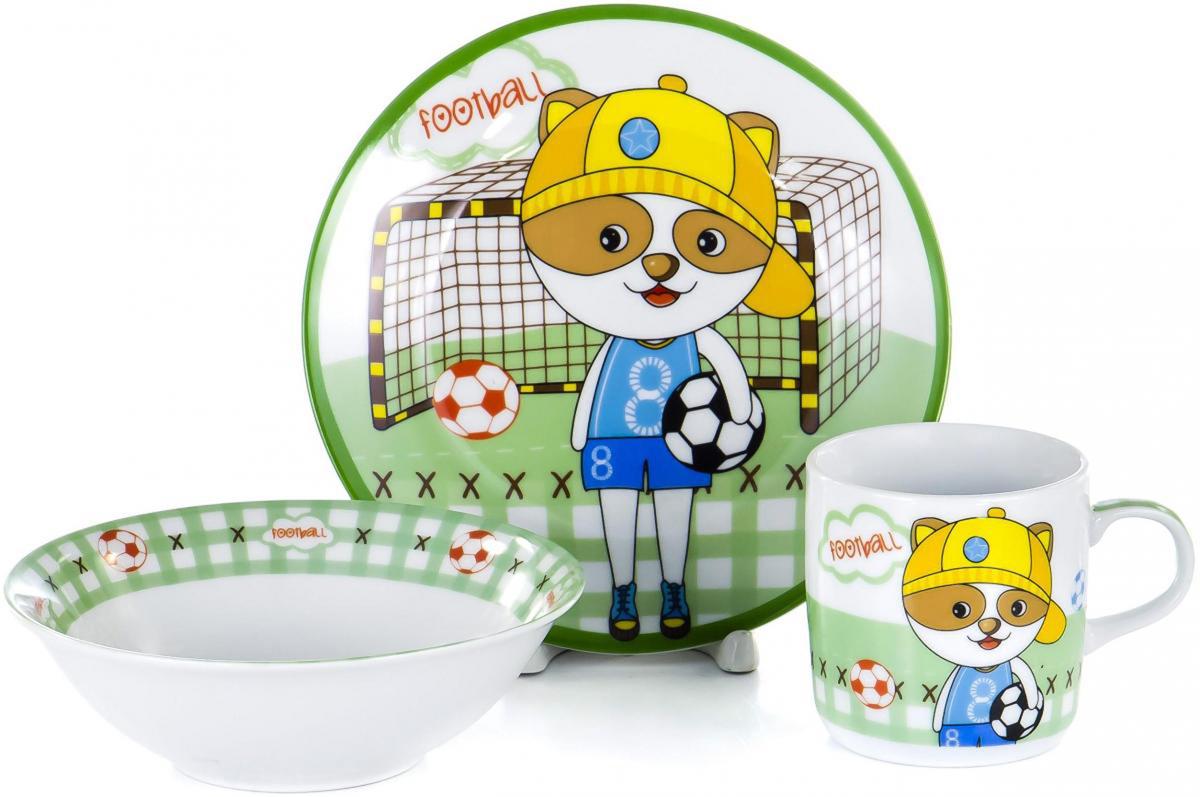 Набор для завтрака Olaff Children, 3 предмета. LX-3PCS-C251LX-3PCS-C251Набор детской посуды для завтрака Olaff Children, выполненный из фарфора, декорирован красочным рисунком.Такой набор обязательно понравится вашему ребенку, потому что теперь у него будет своя собственная посуда. Набор посуды для детей включает в себя три предмета: - тарелка (диаметр - 190 мм);- салатник (500 мл);- кружка (230 мл).Набор упакован в красочную, подарочную упаковку.