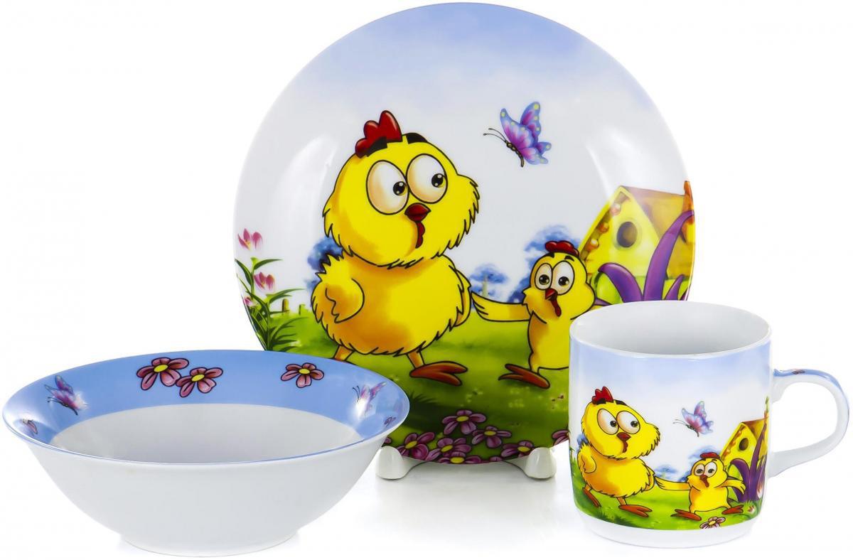 Набор для завтрака Olaff Children, 3 предмета. LX-3PCS-C393 набор столовой посуды olaff эстелла