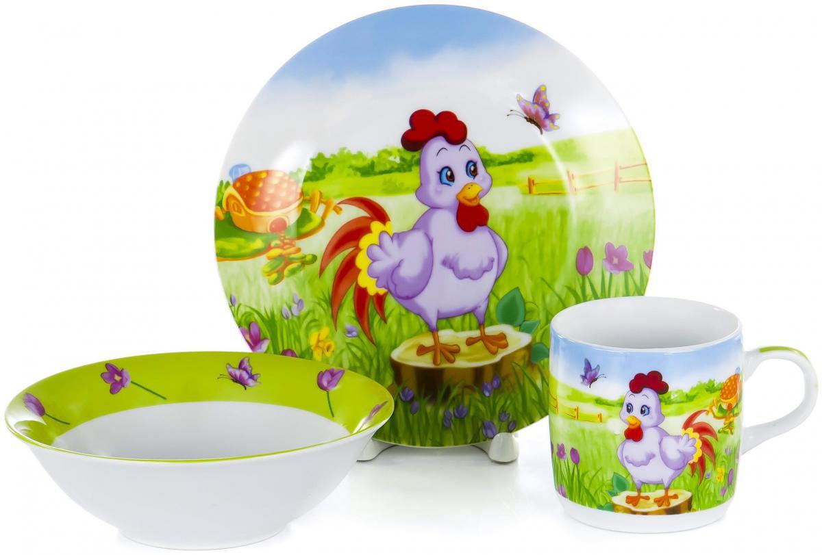 Набор для завтрака Olaff Children, 3 предмета. LX-3PCS-C435LX-3PCS-C435Набор детской посуды для завтрака Olaff Children, выполненный из фарфора, декорирован красочным рисунком.Такой набор обязательно понравится вашему ребенку, потому что теперь у него будет своя собственная посуда. Набор посуды для детей включает в себя три предмета: - тарелка (диаметр - 190 мм); - салатник (500 мл);- кружка (230 мл).Набор упакован в красочную, подарочную упаковку.