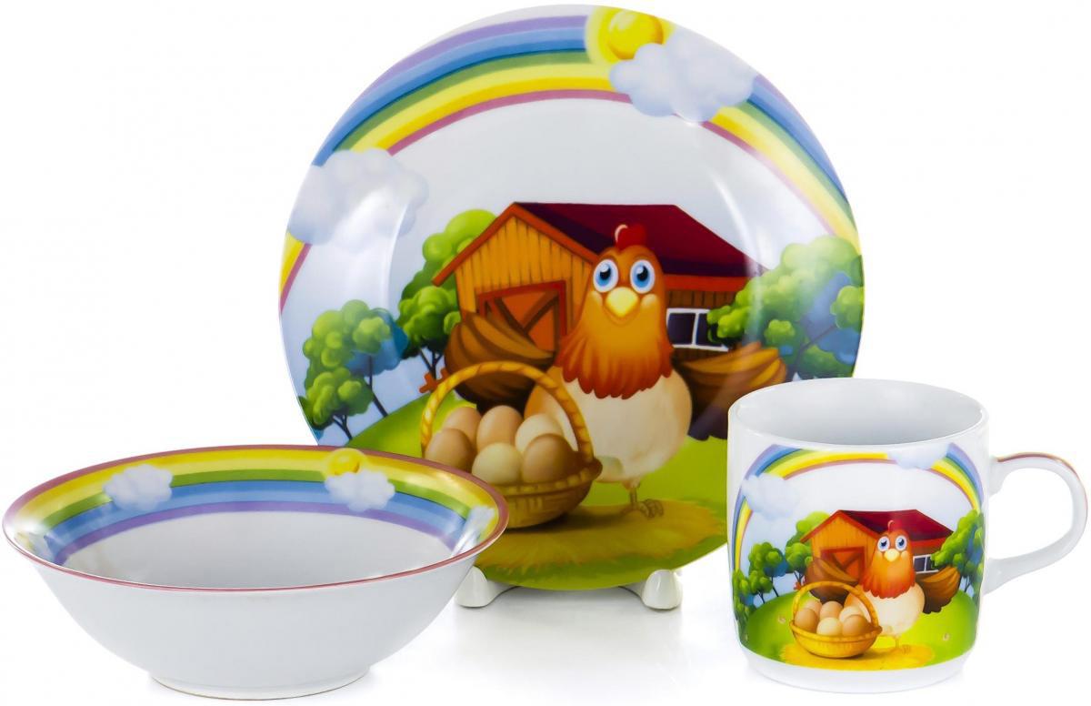 Набор для завтрака Olaff Children, 3 предмета. LX-3PCS-C437LX-3PCS-C437Набор детской посуды для завтрака Olaff Children, выполненный из фарфора, декорирован красочным рисунком.Такой набор обязательно понравится вашему ребенку, потому что теперь у него будет своя собственная посуда. Набор посуды для детей включает в себя три предмета: - тарелка (диаметр - 190 мм); - салатник (500 мл);- кружка (230 мл).Набор упакован в красочную, подарочную упаковку.