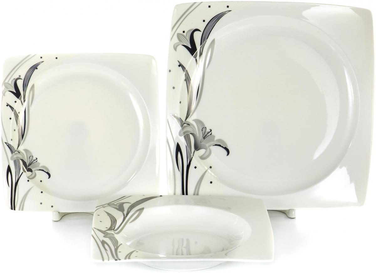 Набор тарелок Olaff Белый квадрат, 18 шт. SC-DN18CB-003