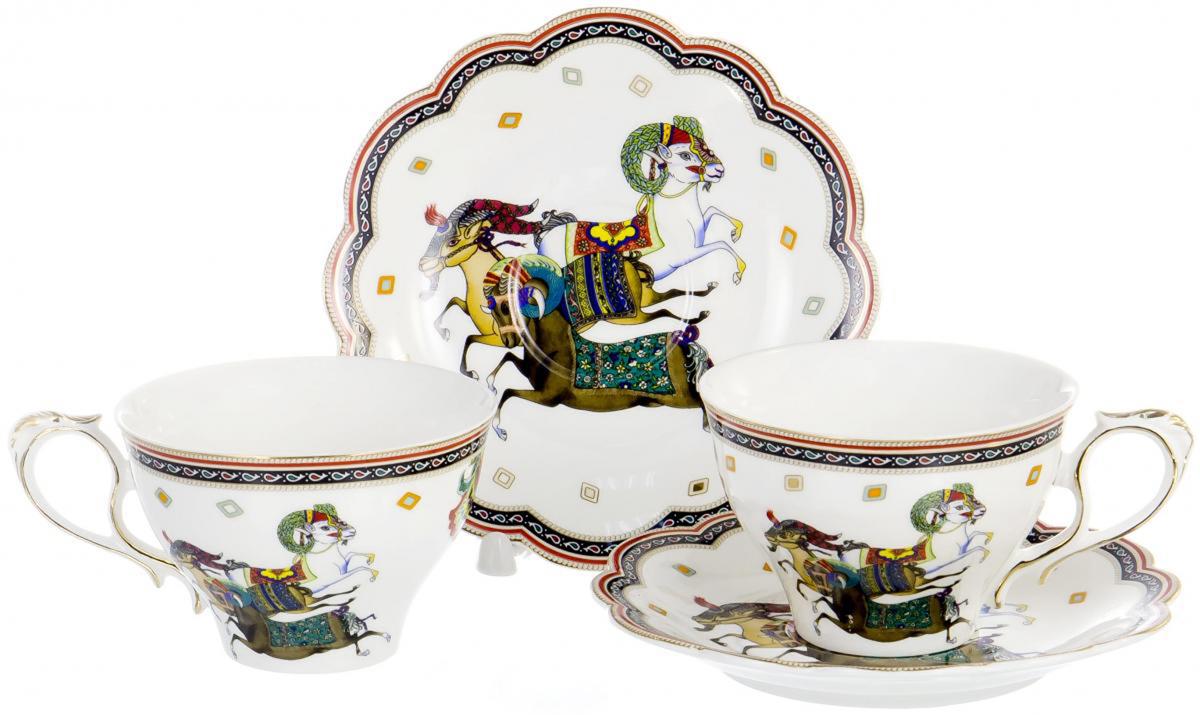 Набор чайный Olaff, 4 предмета. XX2Y-BHE-F4539XX2Y-BHE-F4539Набор чайный Olaff состоит из 2 чашек и 2 блюдец. Набор изготовлен из высококачественного фарфора и оформлен стильным рисунком. Такой набор подходит для подачи чая. Изящный дизайн придется по вкусу и ценителям классики, и тем, кто предпочитает утонченность и изысканность. Он настроит на позитивный лад и подарит хорошее настроение с самого утра. Чайный набор Olaff - идеальный и необходимый подарок для вашего дома и для ваших друзей в праздники.