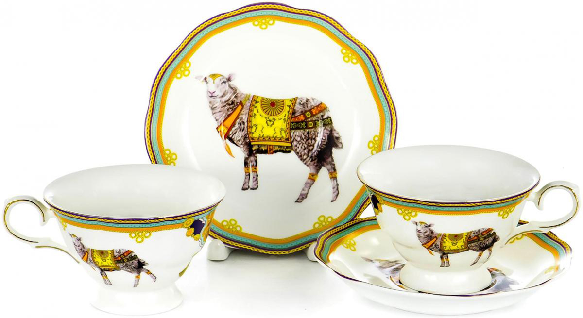 Набор чайный Olaff, 4 предмета. XX2Y-BJM4530XX2Y-BJM4530Набор чайный Olaff состоит из 2 чашек и 2 блюдец. Набор изготовлен из высококачественного фарфора и оформлен стильным рисунком. Такой набор подходит для подачи чая. Изящный дизайн придется по вкусу и ценителям классики, и тем, кто предпочитает утонченность и изысканность. Он настроит на позитивный лад и подарит хорошее настроение с самого утра. Чайный набор Olaff - идеальный и необходимый подарок для вашего дома и для ваших друзей в праздники.