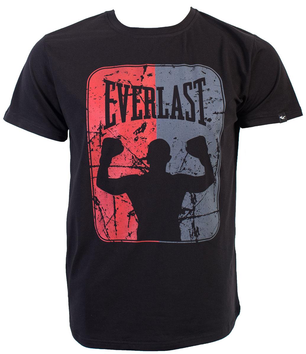 Футболка мужская Everlast Boxer, цвет: черный. RE0034. Размер XXL (54/56) футболка мужская mitre цвет желтый tt29019 размер xxl 54 56