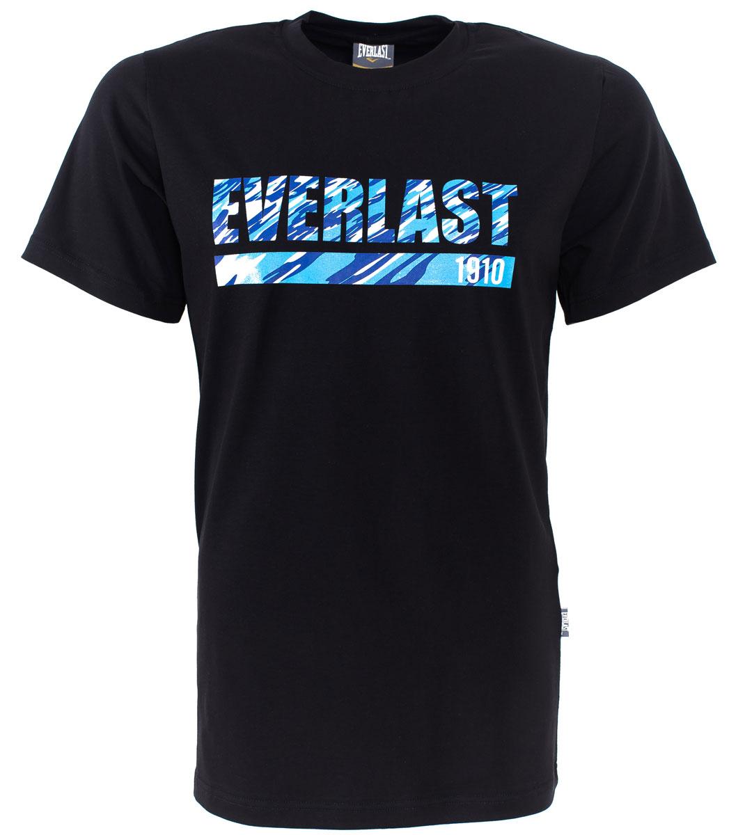 Футболка мужская Everlast Camouflage, цвет: черный. RE0032. Размер XXL (54/56) футболка мужская mitre цвет желтый tt29019 размер xxl 54 56