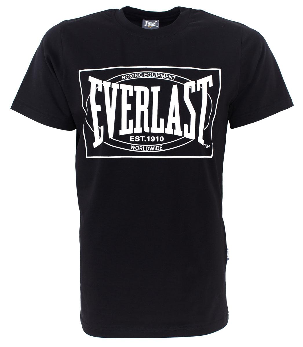 Футболка мужская Everlast Choice of Champions, цвет: черный. RE0033. Размер XXL (54/56) футболка мужская mitre цвет желтый tt29019 размер xxl 54 56