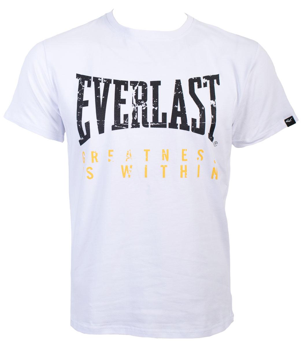 Футболка мужская Everlast Greatness, цвет: белый. RE0035. Размер XXL (54/56) футболка мужская mitre цвет желтый tt29019 размер xxl 54 56