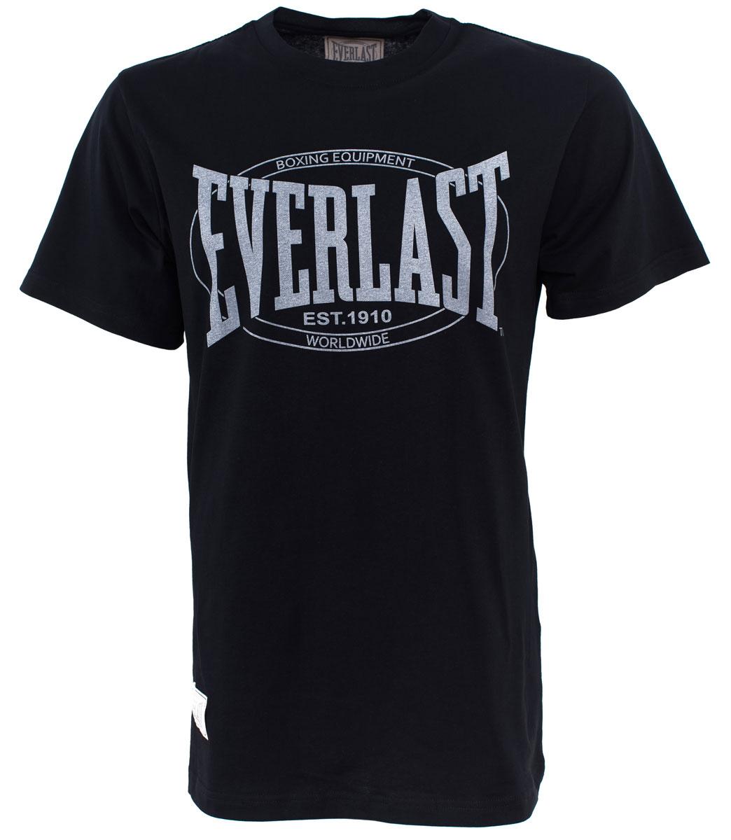 Футболка мужская Everlast Old Authentic, цвет: черный. RE0013. Размер XXL (54/56) футболка мужская mitre цвет желтый tt29019 размер xxl 54 56