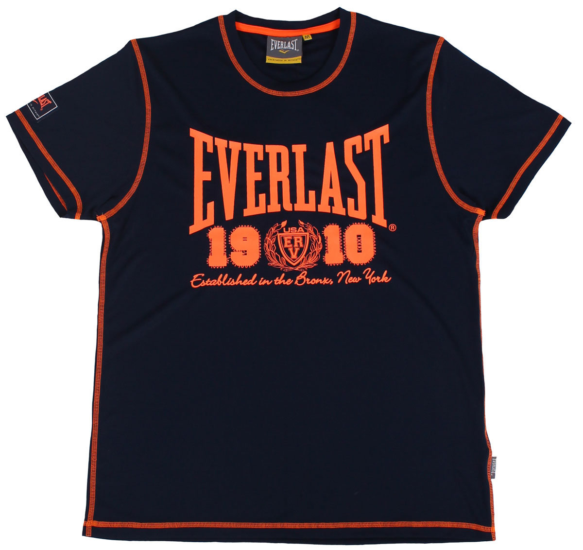 Футболка мужская Everlast Sports Brights, цвет: синий. EVR8850. Размер XXL (54/56)EVR8850Симпатичная мужская футболка Everlast выполнена из гладкого трикотажа с контрастной отстрочкой, обеспечит вам комфорт при носке.Футболка прямого кроя с круглым вырезом горловины и короткими рукавами оформлена принтовой надписью. Эта замечательная футболка отлично подойдет для тренировок и повседневного ношения.