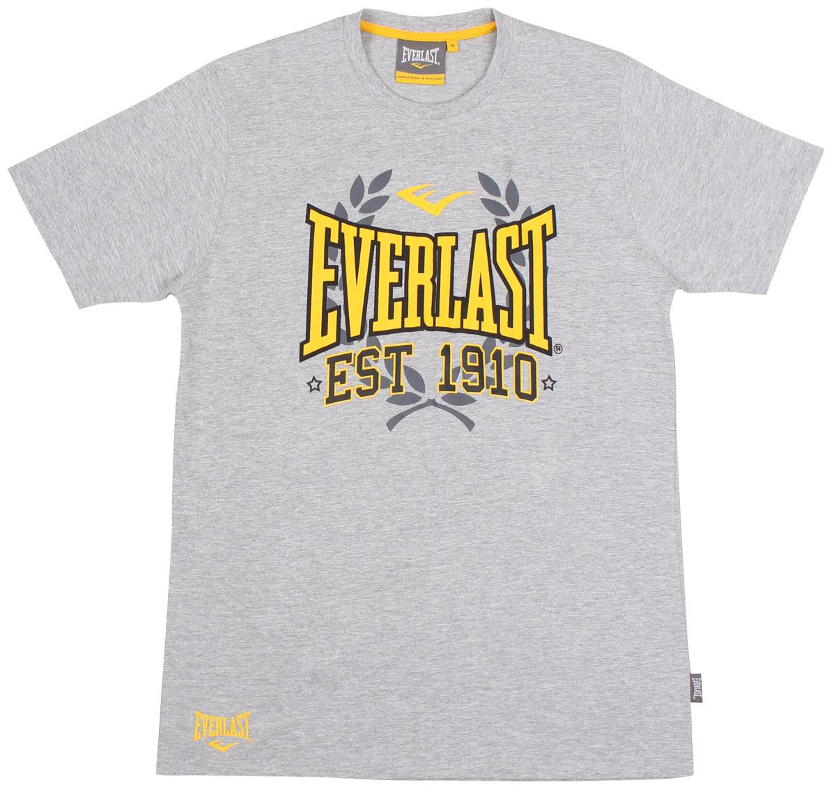 Футболка мужская Everlast Sports Marl 1910, цвет: серый. EVR9024. Размер XL (52/54) футболка мужская everlast heritage цвет белый evr6520 размер xl 52 54