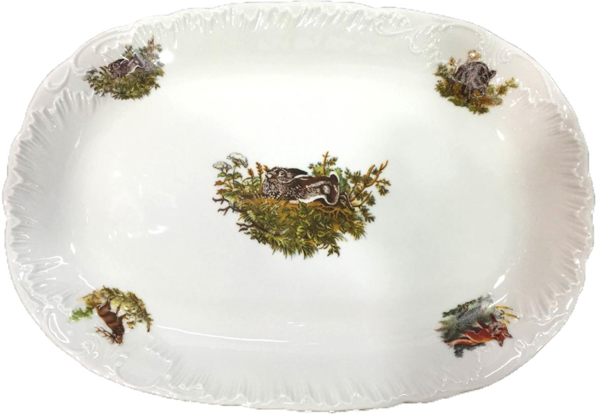 Блюдо Cmielow Rococo. Охота, 36 см. OMD1051-Рококо-3 россия блюдо 3 спопки
