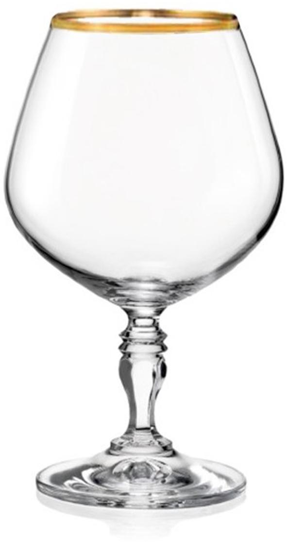 Набор бокалов для бренди Bohemia Crystal Виктория, 380 мл, 6 шт набор бокалов bohemia crystal  рождественский