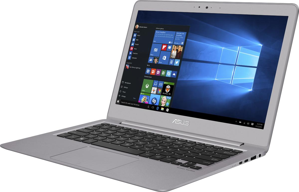 ASUS ZenBook UX330UA-FC313T, Metal Grey + чехол522202Asus ZenBook UX330UA - это утонченная элегантность и инновационные компьютерные технологии. В его тонком и легком корпусе скрываютсямощные компоненты, обеспечивающие высокую производительность, а оригинальный дизайн в стиле Zen, отличающий все мобильныеустройства Asus, делает его красивым аксессуаром современного мобильного человека.Выполненный из прочного алюминиевого сплава с кварцево-серым или золотисто-розовым анодированием, красивый корпус ультрабукаZenBook UX330 является изящным и практичным одновременно. Толщина его профиля составляет всего 13,5 мм, а вес устройства непревышает 1,2 кг.ZenBook UX330 идеально подходит для использования в мобильных условиях, ведь время его автономной работы составляет до 12 часов.Применяемый в нем литий-полимерный аккумулятор обладает большим сроком службы, чем литий-ионные. Причем, даже после сотен цикловподзарядки такой аккумулятор будет сохранять большую часть своей первоначальной емкости. Также в нем реализованы технологии,обеспечивающие максимальную безопасность использования ультрабука.Как и любой другой ZenBook, UX330UA - это не только стильный, но и мощный мобильный компьютер. В его конфигурацию входят процессорIntel Core, до 8 гигабайт оперативной памяти DDR3-1866 и твердотельный накопитель емкостью 256 ГБ. Кроме того, данный ультрабукоснащен полноценным комплектом проводных и беспроводных интерфейсов, включая USB 3.1 (в виде обратимого порта Type-C), micro-HDMI(для подключения внешних мониторов и телевизоров), Wi-Fi 802.11ac (двухдиапазонный модуль) и Bluetooth 4.1. Все эти компоненты работаютпод управлением современной операционной системы Windows 10.Дисплей данного ультрабука может похвастать расширенным цветовым охватом. Он способен отображать 72% оттенков цветовогопространства NTSC, 100% оттенков пространства sRGB и 74% оттенков пространства AdobeRGB. Иными словами, изображение на экранебудет отличаться более точной цветопередачей по сравнению с тем, на что спосо